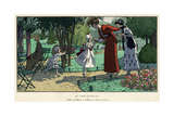 Greeting their Mother 1914 Giclee Print by Pierre Brissaud