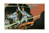 WW1 Cartoon, Giving Blood Giclee Print by Paul Iribe
