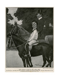 Edward VIII Rides Giclee Print by Maurice Greiffenhagen