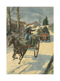 Car Chasses Carriage Giclee Print by Paul Dufresne