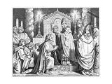 Charlemagne Crowned Giclee Print by Moritz Von Schwind
