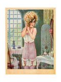 Girl in Corset, Milliere Premium Giclee Print by Maurice Milliere