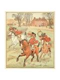 3 Jovial Huntsman Giclee Print by Randolph Caldecott