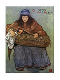 Lapp Mother Breastfeeds Her Baby Premium Giclee Print by Nico Jungman