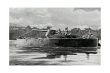 WW1 - Cameroon Campaign - Gun-Boat in the Cameroons Giclee Print by Ralph Cleaver