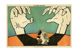 WW1 Cartoon, Large Hands Giclee Print by Paul Iribe