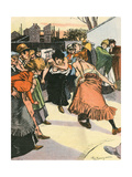 Women Fighting, 1905 Giclee Print by Paul Balluriau