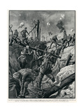 British Refashioning a German Trench, WW1 Giclee Print by Ralph Cleaver