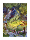 The Fairies Song Giclee Print by PB Hickling