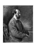 Camille Saint-Saens, French Musician and Composer Premium Giclee Print by Paul Mathey
