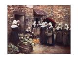 Brittany Veg. Market Giclee Print by Mortimer Menpes