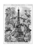 Paris, Eiffel Tower 1889 Giclee Print by Linley Sambourne