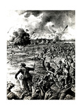 WW1 - Bombers in Action Near La Bassee, France, 1915 Giclee Print by Ralph Cleaver