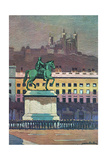 Lyon, Place Bellecour Giclee Print by Maurice Barbey