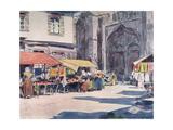 Street Market, Quimperle Giclee Print by Mortimer Menpes