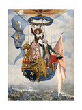 First Gas Balloon (2) Giclee Print by Maurice Leloir