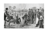 Cricket Being Played in Regent's Park, London Giclee Print by P. Naumann