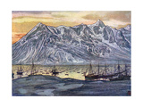 Norwegian Fishing Fleet Giclee Print by Nico Jungman