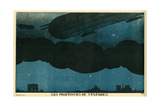 Zeppelins over Paris Giclee Print by Paul Iribe