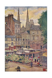 Rouen, Flower Market 1907 Giclee Print by Nico Jungman