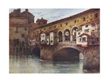 Florence, Ponte Vecchio Premium Giclee Print by RC Goff