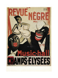 Revue Negre Giclee Print by Paul Colin