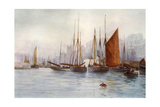 Brixham Fishing Boats Giclee Print by Maurice Randall