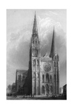 Chartres Cathedral Giclee Print by R Garland