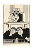 At the Old Bailey: Lord Darling, Sir Herbert Austin and Richard Muir Giclee Print by Powys Evans