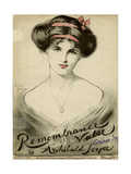 Portrait of an Elegant Young Woman Giclee Print by Lewis Baumer