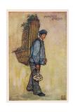 Breton Garlic Seller Giclee Print by Nico Jungman
