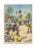 Dance, Regional, Dahomey Giclee Print by Paul Dufresne