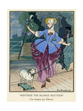 Little Bo Peep 1913 Premium Giclee Print by Pierre Brissaud