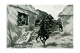 WW1 - British Horse Unmasks a German Spy Hidden in Haystack Giclee Print by Ralph Cleaver