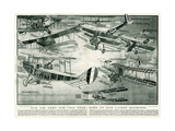 Aeroplanes of 1918 Giclee Print by S.W. Clatworthy