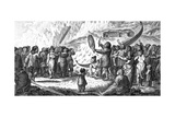 Greenlanders Singing Combat, C. 1800 Giclee Print by T. Clerk