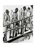 WW1 - African-American G.I.'s Embark for France Premium Giclee Print by Paul Stahr