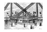 Paris, France - La Tour Eiffel, Printing House Figaro Giclee Print by R. Liboris