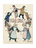 Little Girls of Other Lands in their Native Costumes Premium Giclee Print by Ruth Cobb
