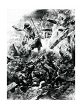 WW1 - Troops in Trench Warfare in Verdun, France Premium Giclee Print by Paul Thiriat