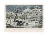 Hunting Mishap! Giclee Print by Robert Cruikshank