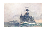 Dreadnought on Duty Giclee Print by Norman Wilkinson