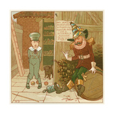 Guy Fawkes Reprimands Trespasser Lámina giclée por Robert Dudley