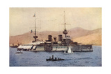 Suffren Warship Giclee Print by Norman Wilkinson