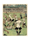 Football Match, Klodshans Giclee Print by Rasmus Christiansen