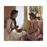 The Morning Lesson Giclee Print by Norman Garstin
