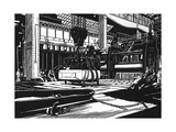 Rolling Armour Plate Giclee Print by Robert Engels