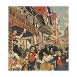 Alsace Vineyard Festival Giclee Print by R. Moritz