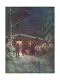 Christmas Eve in Canada Premium Giclee Print by R.g. Mathews