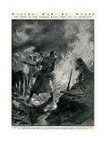 Second Wave of French Troops in German Trenches, WW1 Giclee Print by Paul Thiriat